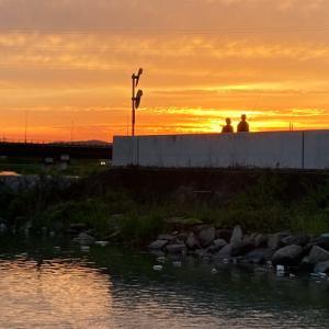 夕焼け絶景・笹ヶ瀬川