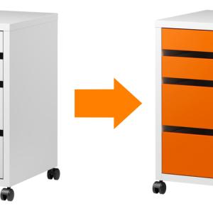 IKEAの机 「MICKE」 オレンジ復活