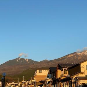 冬の日光連山