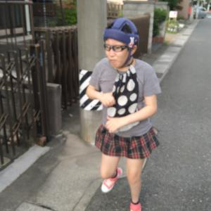 わこちゃんと歩く練習!