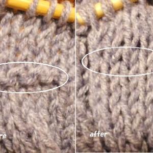 編んで楽しいマフラー