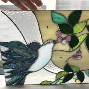 ステンドグラスの青い鳥★イマリエステンドグラス★生徒さん作品