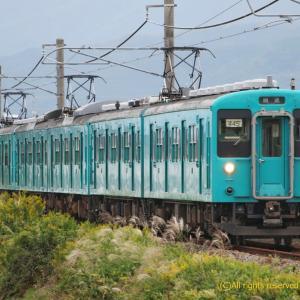105系廃車回送 大和新庄にて