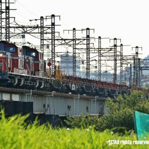 DD51重連ロンチキ 市川橋梁にて