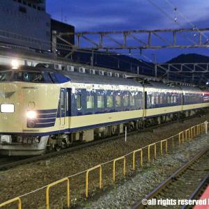 583系天理臨 京都にて