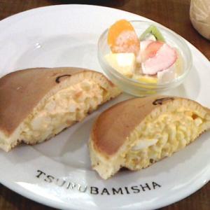 ご近所散歩〜ホットケーキの卵サンド