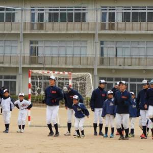 城南高校野球部見学&練習試合(VS渋野少年野球クラブ)