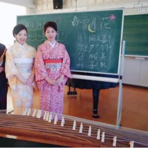 雪月花で和楽器学校公演へ