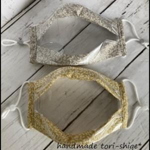 透明マスク こまちカフェさんに納品します。