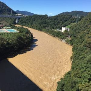今日の相模川 城山ダム 圏央道
