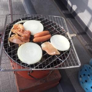 保冷缶ホルダー BBQで使用