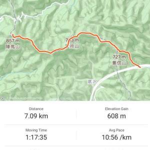 景信山登山口→陣場山 往復 2時間19分