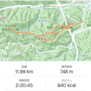 小仏城山ピストン 2時間20分 with ankle weight 2Kg