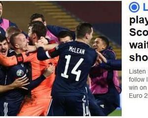 祝 スコットランド EURO2020 予選通過 22年ぶり。