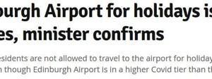 Edinburgh Airportに行けない????