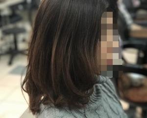 モノトーンアッシュカラー&酸性デジタルパーマでワンカールスタイル〜磐田市〜