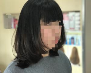 HOT系パーマでしっかり目の内巻きパーマ〜磐田市〜