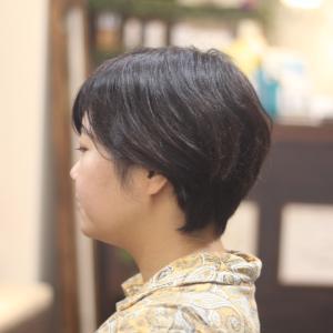 ショートスタイル MARIAさん編 長堀橋美容室 心斎橋美容室 手話美容室