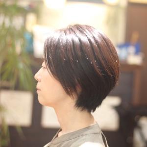ショートスタイル Hさん編 長堀橋美容室 手話美容室
