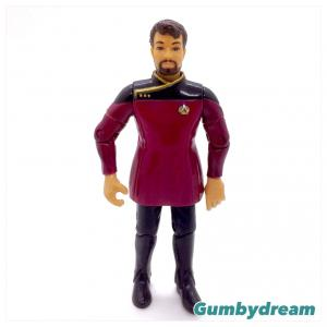 "Playmates Star Trek Starfleet Officers Collectors Set ""Commander William Riker"" 1994"