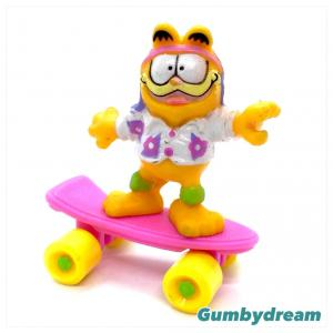 "McD Happy Meal Featuring Garfield ""Garfield on Skateboard"" 1988"