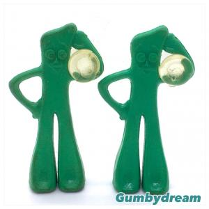 Gumby 1.5 inch Vintage Suction Cup 1986