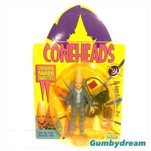 "Playmates Coneheds Action Figure ""Prymaat Conehead in Suburban Uniform"" 1993"