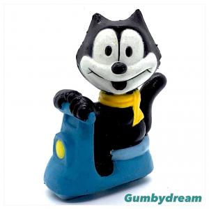 """Sunkisses Hawaii Felix the Cat 2.4"""" Figurine """"Felix on the Scooter"""" 1990s"""