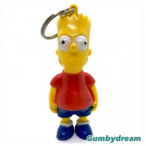 Street Kids Bart Simpson Key Ring 1992