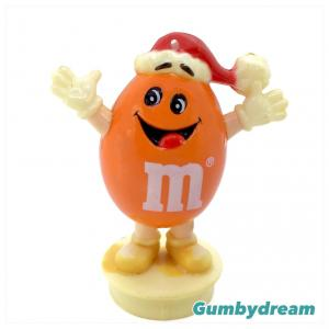 "M&M's Holiday Season Topper ""Peanuts Orange Santa"" 1988"