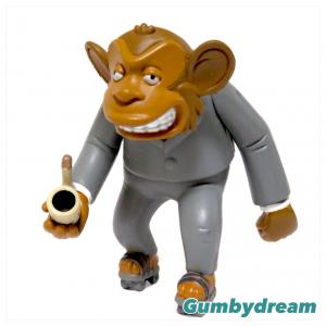 """Playmates Toys The Simpsons Deep Space Homer Collector's PVC Figure """"NASA Chimp"""" 2002"""