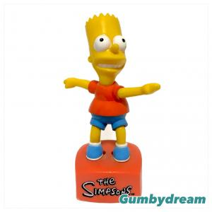 """Small Planet The Simpsons """"Bart Push Puppet"""" 2002"""