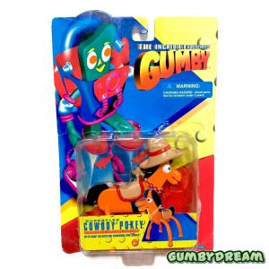 """Trendmasters The Incredible Adventures of Gumby """"Cowboy Pokey"""" 1996"""