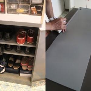 靴の収納DIY・1
