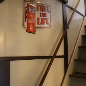 階段の壁に移動