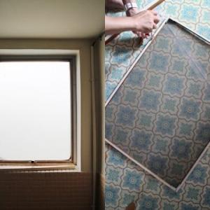 バスルームの網戸木枠修理