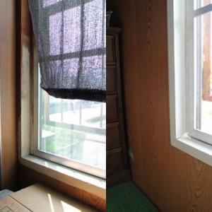 窓枠のペイント