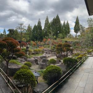 ★ゆのごう美春閣の庭も撮ってみました!