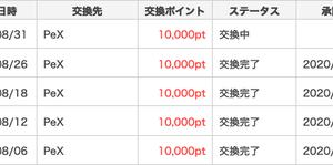500円換金【ポイントタウン】8月5回目!