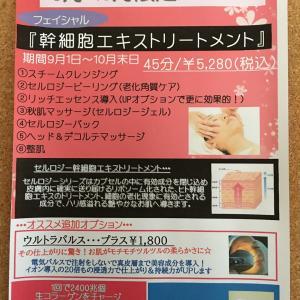 9月1日(水)〜9月8日(水)予約空き状況『初のヒト幹細胞!』
