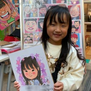 ラソラ札幌にて、お客様の似顔絵♫