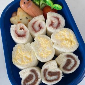 冷凍庫の片付けを兼ねたお弁当。