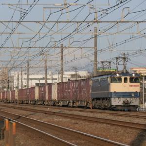 馬入川橋梁で貨物列車の撮影