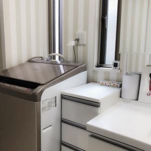 洗面所片付けとバスポンプ収納