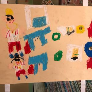 弟チャン年中幼稚園作品展や最近の遊び