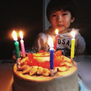 弟チャン5歳誕生日