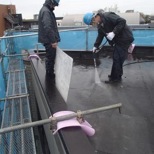 マンション改修工事 高圧水洗浄