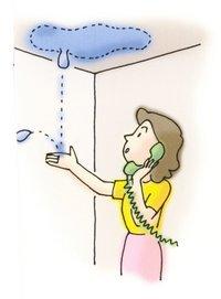 換気扇から雨漏れ