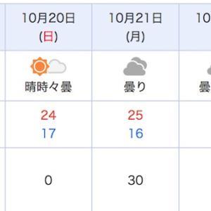 10月22日も雨なのね・・・
