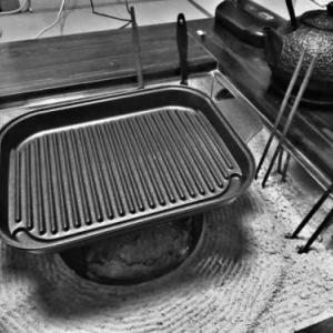 これからは、フルに使ってやる時期だな 〜囲炉裏にグリルパン〜